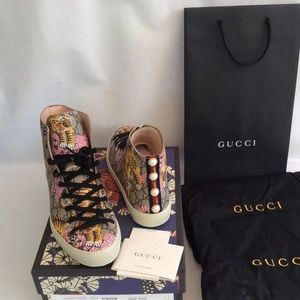 Authentic Gucci Bengal Tiger High Top Sneakers